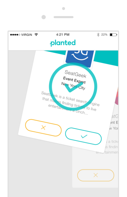 Screenshot of applying to a job in the Planted app